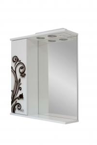 Зеркало 60 бело-черная ковка левое