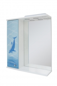 Зеркало 60 дельфин левое