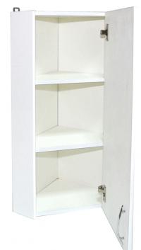 Шкаф навесной угловой 30 зеркало левый БАЗИС